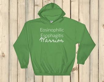 Eosinophilic Esophagitis Warrior EoE EE Hoodie Sweatshirt - Choose Color