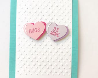 Candy Heart Valentine's Day Card