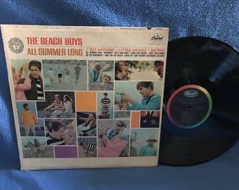 "RARE, Vintage, Beach Boys - ""All Summer Long"" Vinyl LP Record Album, Original 196 First Press, Spirit Of America, Be True To Your School"