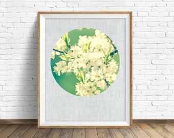 "botanical, wall art, nature, photography, instant download printable art, printable art, large art, large wall art, modern, print -""Thrive"""
