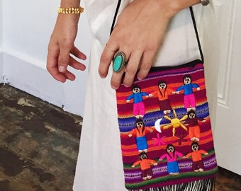 embroidered mexican purse