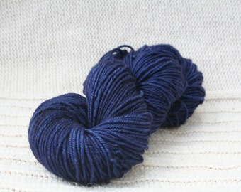 Hand dyed yarn: Indigo BFL wool worsted weight yarn