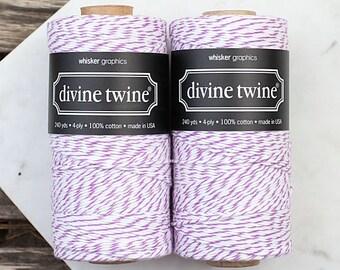 Purple Bakers Twine Spool, Purple Twine, Purple Gift Wrap, Purple Plum Divine Twine, Purple Packaging, Purple String (240 yds)