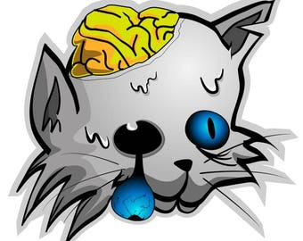 ZOMBIE CAT decal