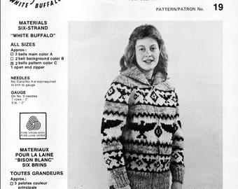 Cowichan Style Zip Up Sweater #19