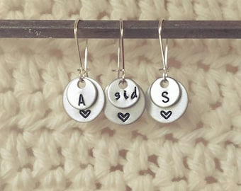 Handstamped Mix and Match Earrings - 1 pair