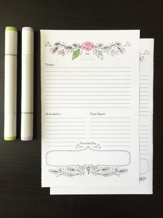 Calendar Illustration Template : Prayer journal printable daily devotional template bullet