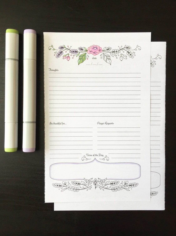 prayer journal printable daily devotional template bullet