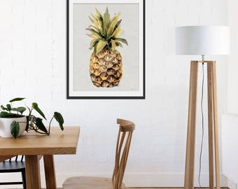 Pineapple Art Print by Green Lili. Pineapple Wall Art. Pineapple Gift. Tropical Decor.