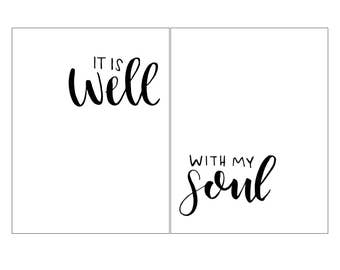 It Is Well With My Soul - Hand Lettered PDF