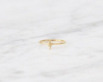 Tiny Lightning Bolt Ring - 4002