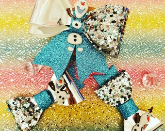 Frozen Olaf bow disney inspired bows snowman bow, disney clip , disney inspired hair bow , girls gift , disney lover ,Frozen , olaf