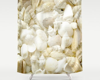 Shower Curtain and More - Seashell Shore | See Dropdown for Pricing and Matching Decor Options