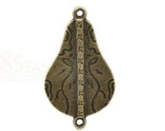 Connecteur métal bronze antique 39x22mm