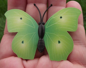 Butterfly Decoration, refrigerator Decor 1 magnetic multicolor green 6 X 4, 1 cm. A28V