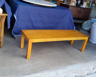 Vintage 1970's Henredon Coffee Table Bench Mid Century Modern Lacquered Parsons Style Hollywood Regency High Quality MCM