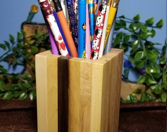 Wood Pencil Holder from Reclaimed Pallet Wood, Paint Brush holder, Wooden Pencil Holder, Pen Holder