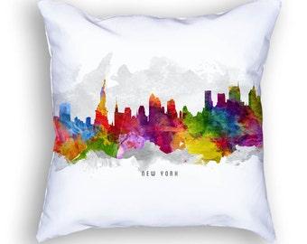 New York Pillow, 18x18, New York Skyline, New York Cityscape, New York Decor,  Cushion Home Decor, Gift Idea, Pillow Case 13