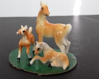 Miniature Bone China Horses - Set of 3