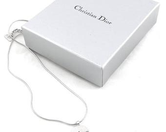 Authentic CHRISTIAN DIOR Gold plated necklace. CD Logo necklace.