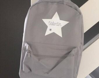 Backpack grey custom name