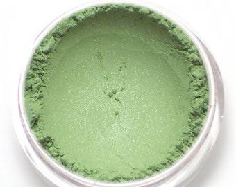 "Green Shimmer Eyeshadow - ""Pistachio"" - Vegan Mineral Makeup"