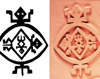 Native American Mimbres Turtle Stamp Design for Polymer, PMC, Ceramic Clay, Textiles, Scrapbooking - Mimbres Turtle Stamp - SW Turtle Stamp