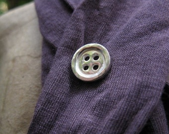 Sterling Silver Button brooch