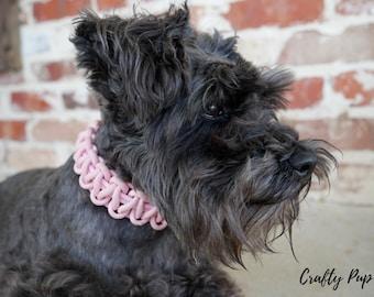 Rose pink collar (custom)