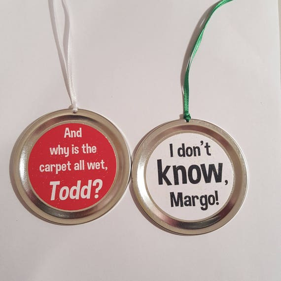"""Items similar to Christmas Vacation 2 Ornament Set - Funny Movie Quotes: """"And why is the carpet ..."""
