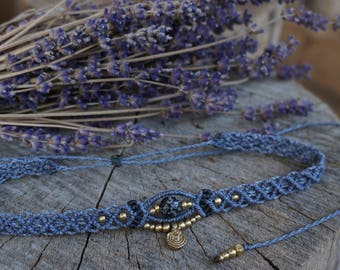Macrium Choker Necklace in Lavender