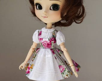 SALE Magenta Roses dress  Pullip Obitsu by Atlier Milabrocc