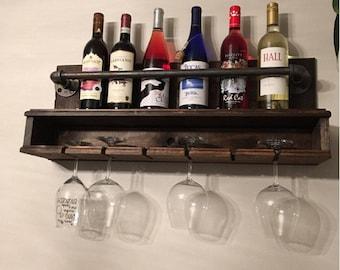 hanging wine rack industrial style