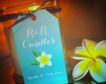 Large Soy Scented Candle - Frangipani