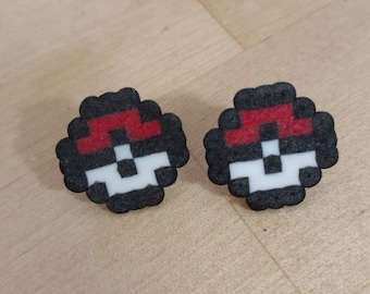Pokeball Pixel Sprite Post Earrings