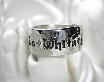 Brilliant Diamonds Personalized Fine Silver Ring - Design Your Own