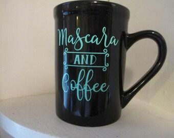 Mascara and Coffee Funny Coffee Mug Cup Home Kitchen Decor Jenuine Crafts