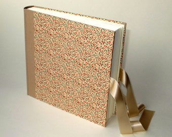 "Photo Album 23x23cm - cover Italian Paper CARTA VARESE Design 908 - ""Flower Field Red"""