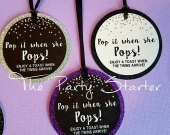 Wine Bottle Party Favor Tags