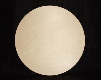 "14"" Solid Wood Circle Cutout,Wooden Circle Cutout,Unfinished Wooden Circle,Unfinished Wood Circle, Solid Baltic Birch Wood Circle"