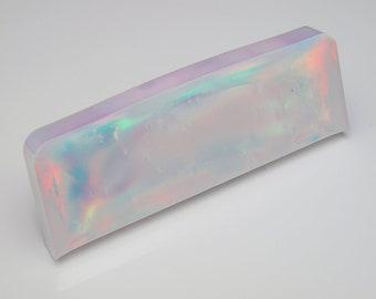 Aurora Opal - New Opal (62.07 g), Creamy White Opal , Rough Opal, Multicolored Opal for Opal Jewellery (Lab Created White Opal)