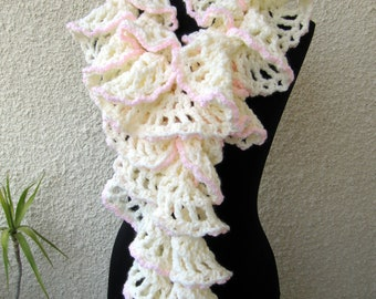 Crochet pattern scarf pattern ruffle scarf pattern unique crochet scarf pattern ruffle scarf pattern chunky scarf winter honeymoon diy gift for her dt1010fo