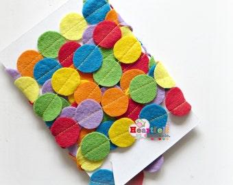 Mini circle Rainbow Circle decorative garland banner geometric confetti