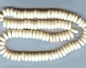 AA Quality Natural Bone Disc Spacer Beads 10mm 25 pieces