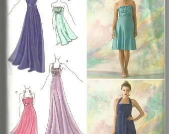 UNCUT 2398 Simplicity Sewing Pattern Special Occasion Dress or Gown 2 Lengths Size 12 14 16 18 20