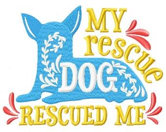 Machine Embroidery Design - Rescue Dogs #05