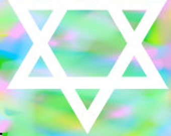Star of David Digital Art Print