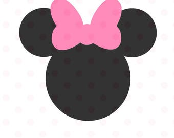 Minnie Mouse SVG Instant Download Minnie Mouse Head Vector Minnie Mouse Cut File, Minnie Mouse for Silhouette and  Cricut