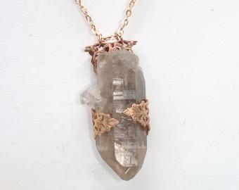 Smokey Quartz Crystal Necklace | Boho | Crystal Necklace | Quartz necklace |Healing Crystals | Crystal Jewelry | Pendant | Handmade Jewelry