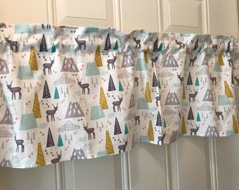 Deer in the valley nursery curtain Valance
